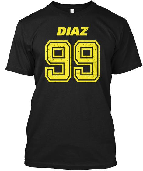 Brooklyn Nine Nine Diaz Team Number 99 Black T-Shirt Front