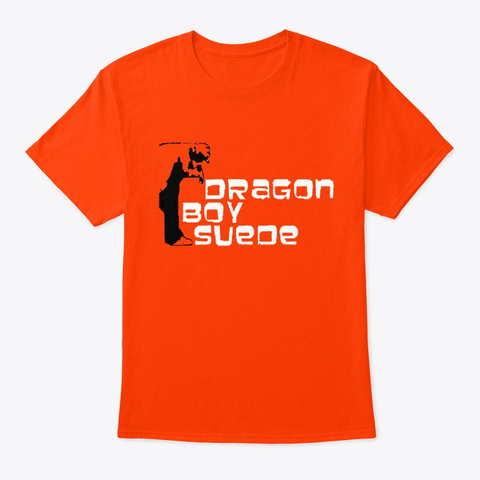 Dragon Boy Suede Orange T-Shirt Front
