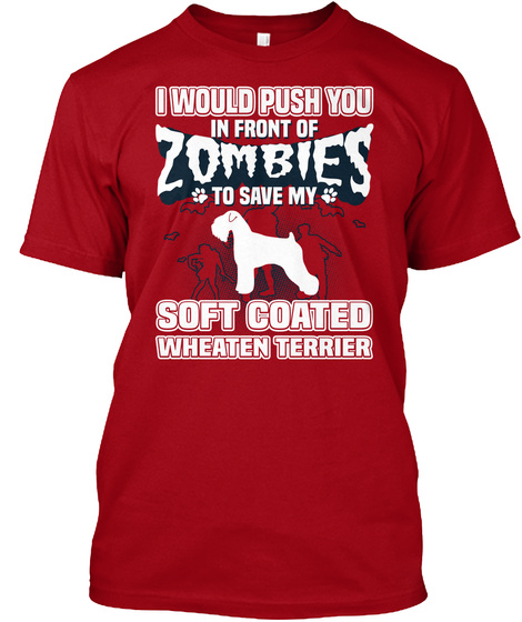 Soft Coated Wheaten Terrier Deep Red T-Shirt Front