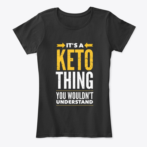 It's Keto Thing   Keto  Black T-Shirt Front