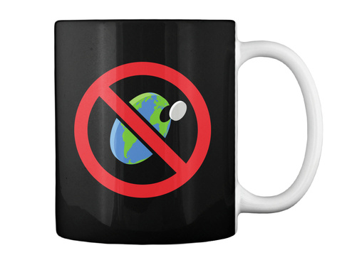 Flat Earth Is Bs Mug [Usa] #Sfsf Black Mug Back