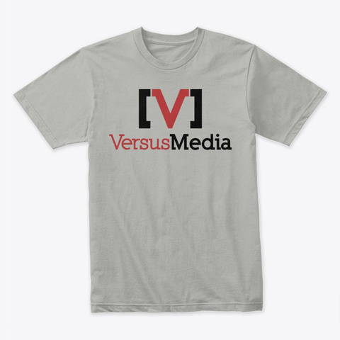 Versus Media Film And Music On Light Light Grey T-Shirt Front