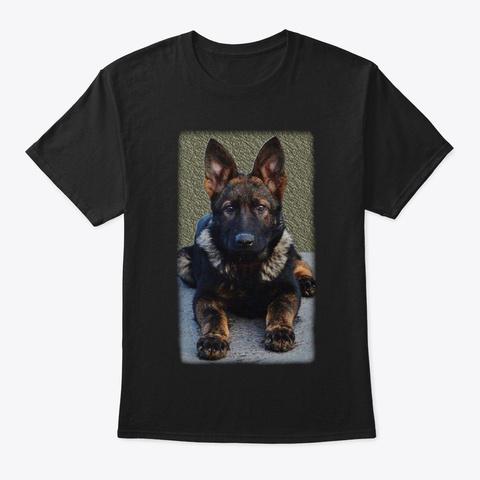 For German Shepherd Lovers Black T-Shirt Front