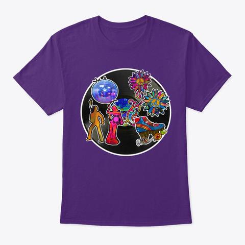 Long Live The Disco Purple T-Shirt Front
