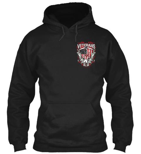Veterans Black T-Shirt Front