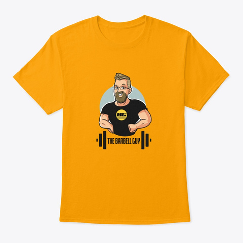 The Barbell Guy Classic T Gold T-Shirt Front
