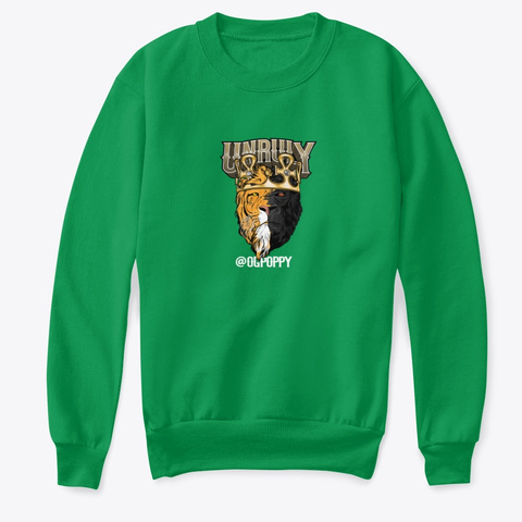 Unruly Kelly Green  T-Shirt Front