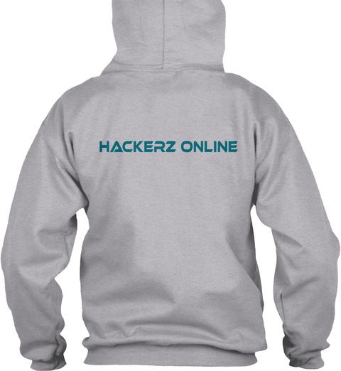 Hackerz Online Sport Grey T-Shirt Back