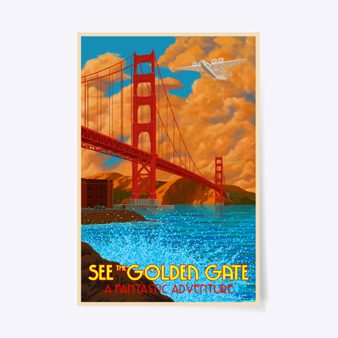 See The Golden Gate White T-Shirt Front