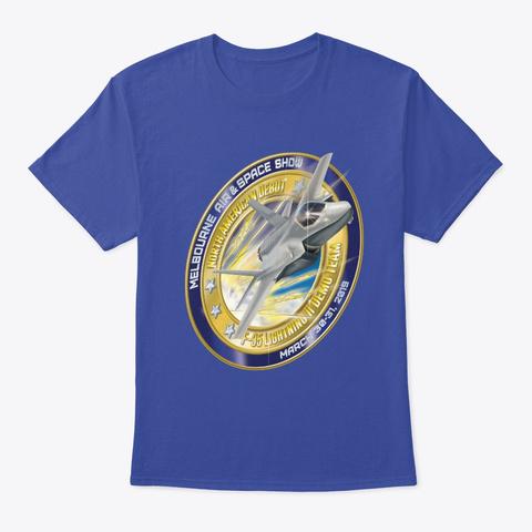 F 35 North American Debut Merchandise Deep Royal T-Shirt Front