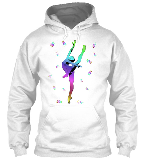 Hoodie Ballet En Pointe Dancer White T-Shirt Front