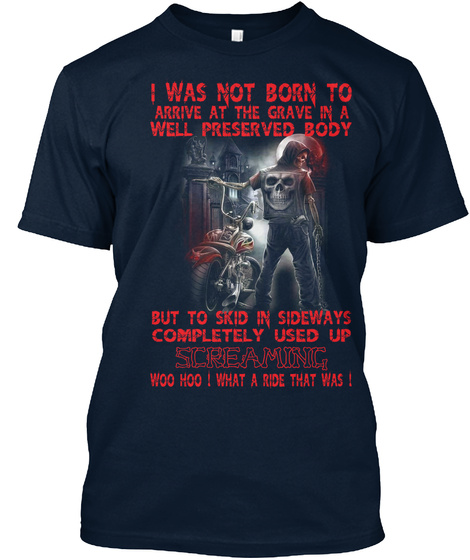What A Ride !!! New Navy T-Shirt Front