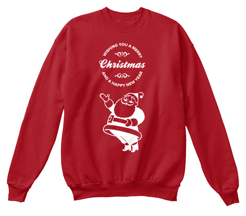 Merry Christmas And Happy New Year Goods Deep Red  T-Shirt Front