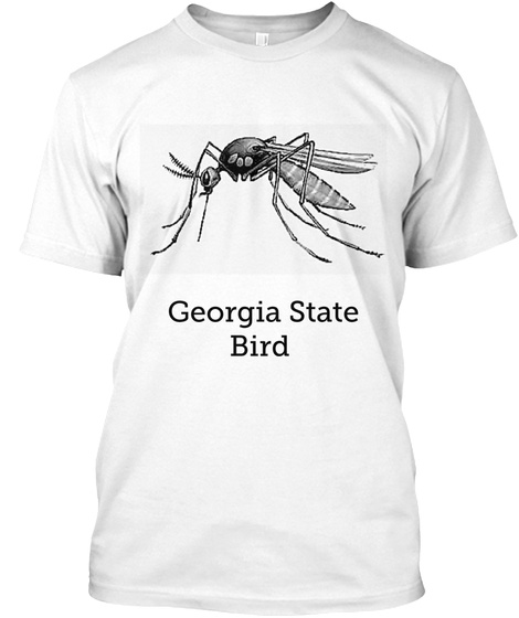 Georgia State  Bird White T-Shirt Front