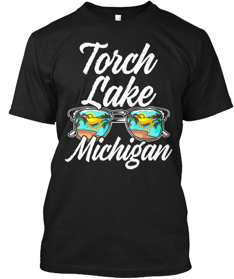 Torch Lake Shades Black T-Shirt Front