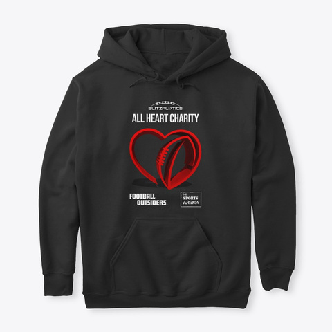 Blitzalytics' All Heart Charity Apparel  Black T-Shirt Front