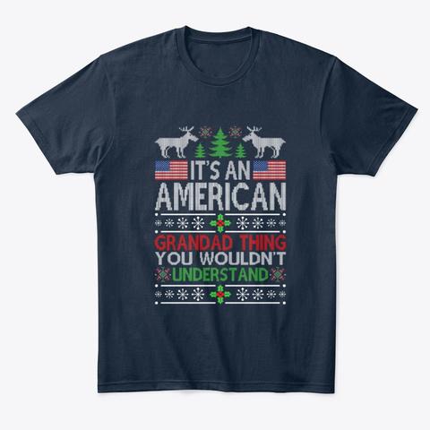 Best Mom Ever Design Christmas Trendy  New Navy T-Shirt Front