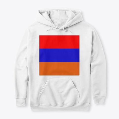 Armenian Flag White T-Shirt Front