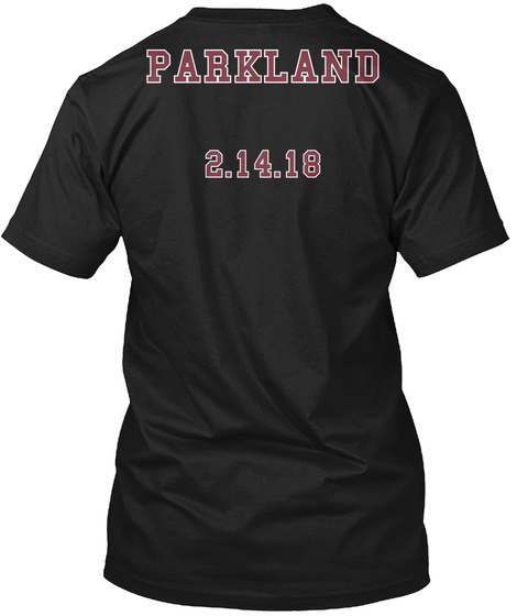 Parkland 21418 Black T-Shirt Back