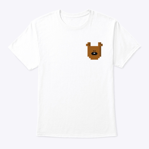 Mr Bean Pocket Teddy White T-Shirt Front