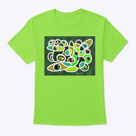 Th In King Eyes Lime T-Shirt Front