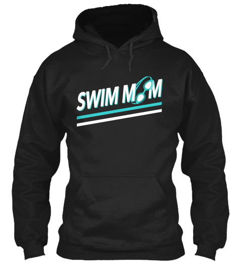 Swim Mom Black T-Shirt Front
