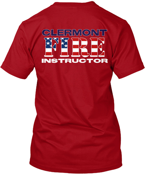 Clermont Fire Instructor Deep Red T-Shirt Back