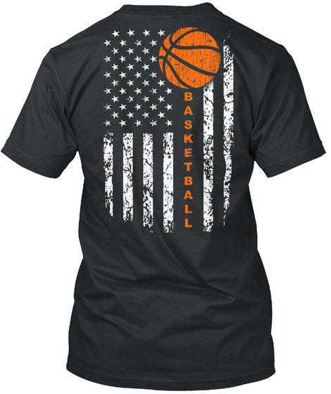 Basketball Black T-Shirt Back