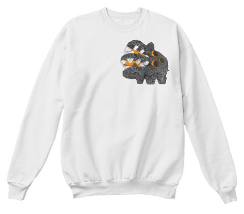 F101 White  Sweatshirt Front