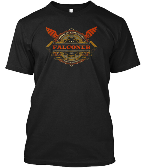 2019 Apprentice Falconer Shirt For 2019  Black T-Shirt Front