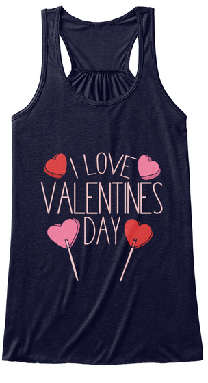I Love Valentines Day Midnight T-Shirt Front
