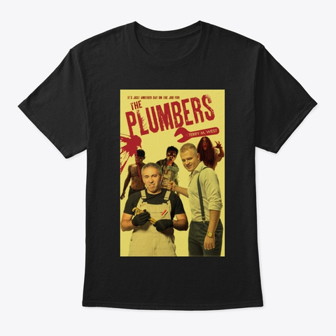 The Plumbers Book Cover Tee Black T-Shirt Front