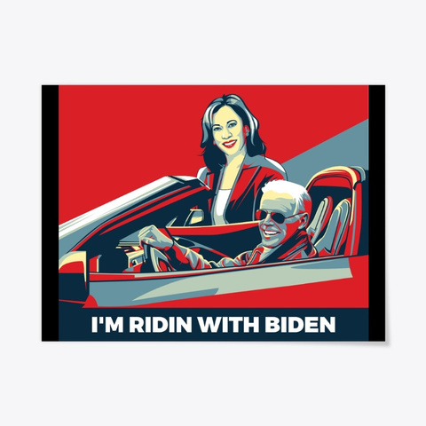 I'm Ridin With Biden And Kamala Harris Black T-Shirt Front