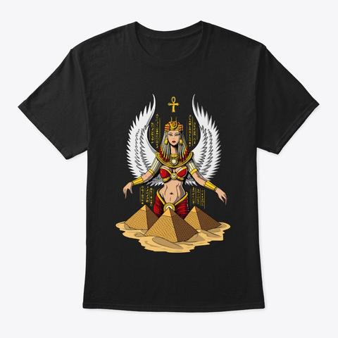 Egyptian Goddess Black T-Shirt Front
