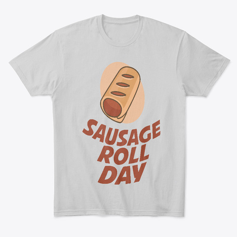 June 5th   Sausage Roll Day Light Heather Grey  T-Shirt Front