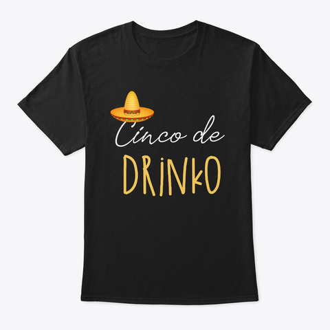 Cinco De Mayo Group Print Black T-Shirt Front