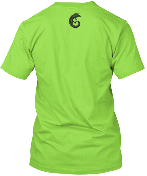 Wear Peter's Lines On Your Body Lime T-Shirt Back