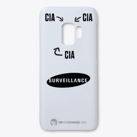 Cia Surveillance Case For Samsung White White T-Shirt Front