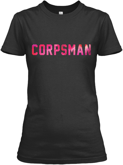 Corpsman Black T-Shirt Front
