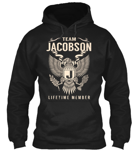 Team Jacobson J Lifetime Warranty Black T-Shirt Front