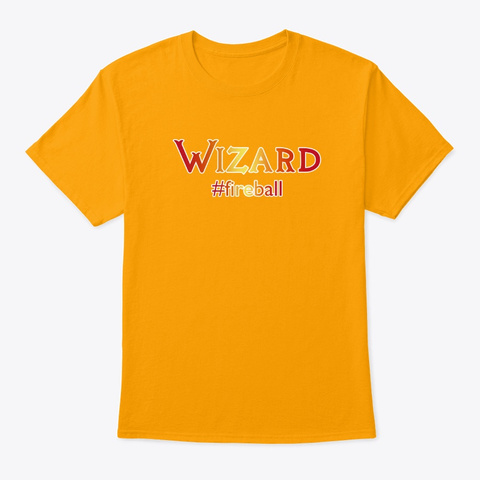 Wizard Hashtag Tee Gold T-Shirt Front