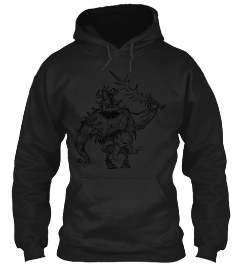 Seagurd And Inky Pinky Black Sweatshirt Front