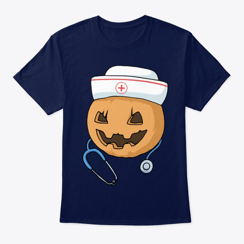 Nurse Halloween Nurse Navy T-Shirt Front