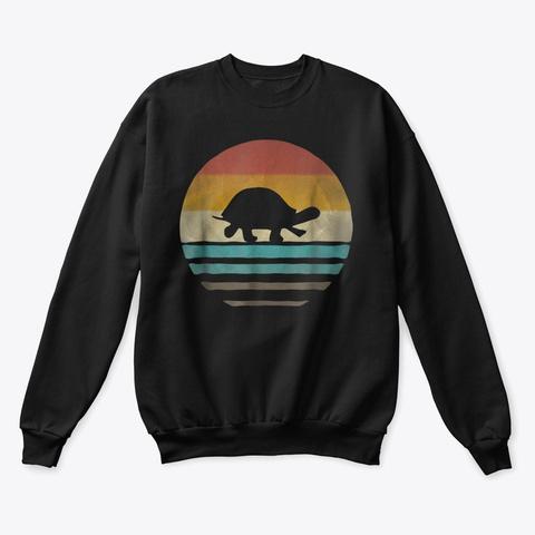 Retro Vintage Turtle Silhouette Shirt Black T-Shirt Front