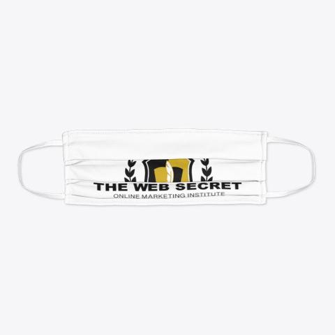 The Web Secret White Face Mask Standard T-Shirt Flat