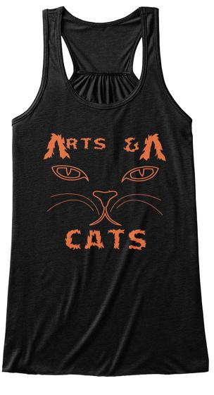 V V & Rts Cats Black T-Shirt Front