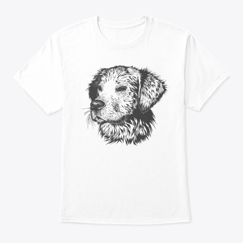 Labrador Gift Design Labrador Best Gift White Kaos Front