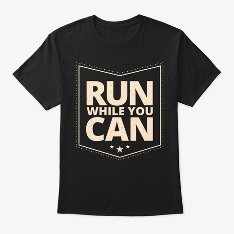 Run T Shirts!! Black T-Shirt Front