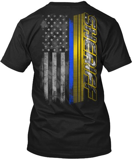 Sheriff Black T-Shirt Back