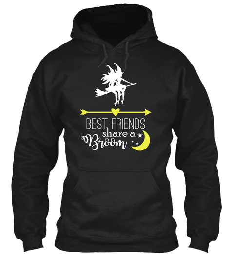 Pinky Promise Drinking Buddy For Life Black Sweatshirt Front
